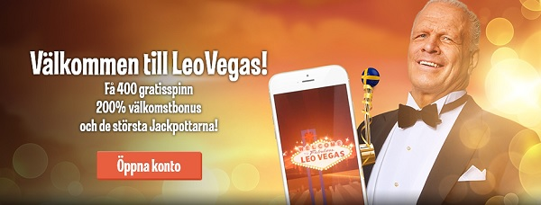 Casinobonusar hos svenska casinot LeoVegas