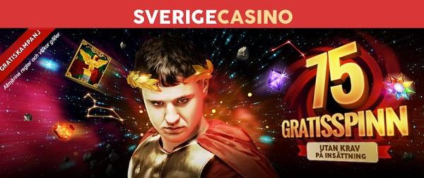 SverigeCasino med 75 gratis spinn och 200 % bonus